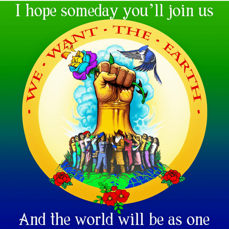 I hope someday you'll join us and the world will be as one.